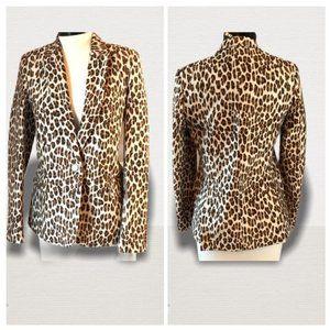Stella McCartney Leopard Print Blazer Jacket